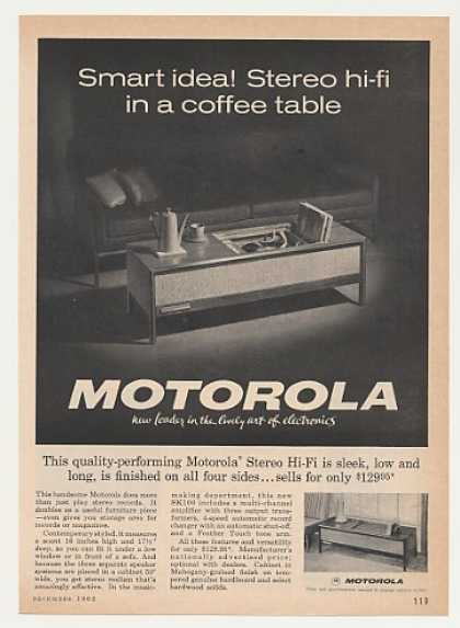 Motorola Stereo Hi-Fi Coffee Table Photo (1962)