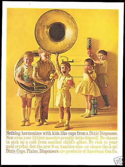 Dixie Cups Dispenser Big Tuba Photo (1960)