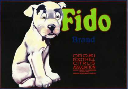 Orosi, California, Fido Brand Citrus Label