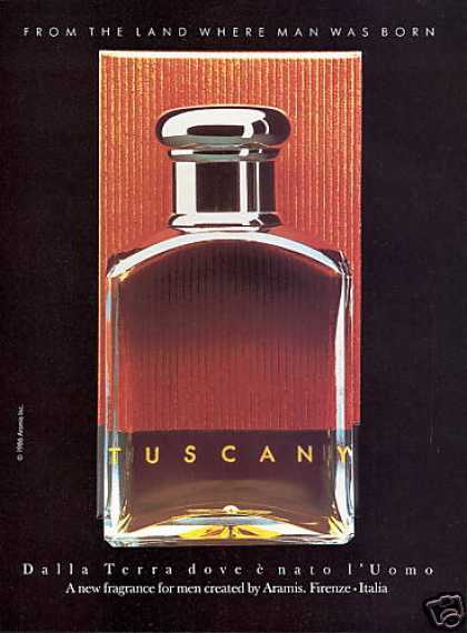 Aramis Tuscany Cologne Fragrance Bottle (1988)