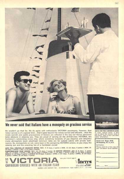 Incres Cruise Line Caribbean Italian Flair (1964)