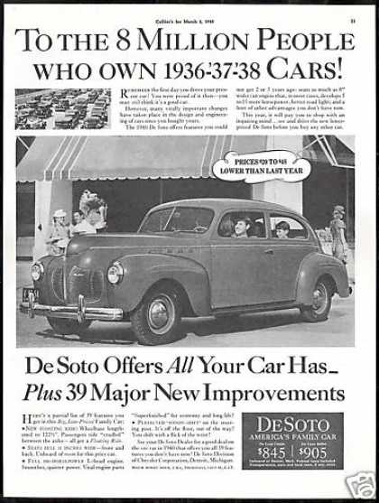 De-Soto Car Photo Improvement Vintage Desoto (1940)