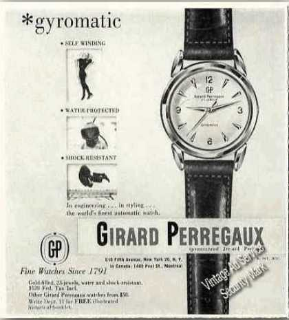 Girard Perregaus Gyromatic Wristwatch Photo (1957)