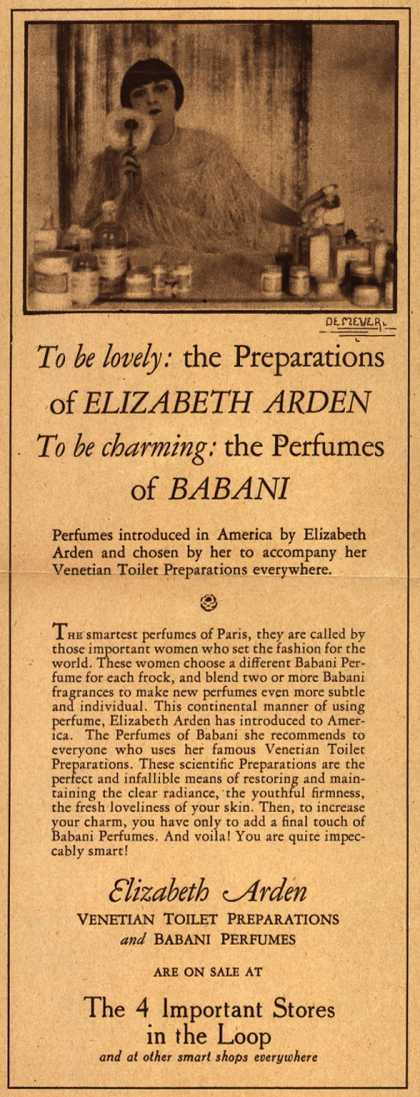 Elizabeth Arden's Venetian Toilet Preparations and Babani Perfumes – To be lovely: the Preparations of Elizabeth Arden, To be charming: the Perfumes of Babani (1924)