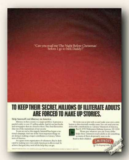 Help Smirnoff End Illiteracy Read To Me Daddy (1989)