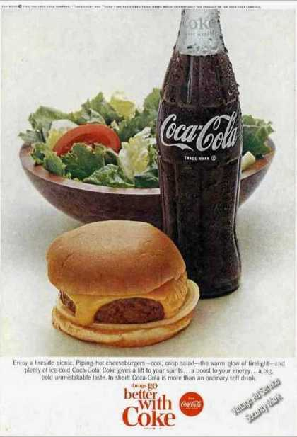 Coke Coca-cola Fireside Picnic Cheeseburger (1966)