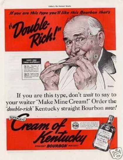 Cream of Kentucky Bourbon Whiskey Ad Rockwell Art (1939)