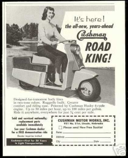 Cushman Motor Works Road King Scooter Photo (1957)