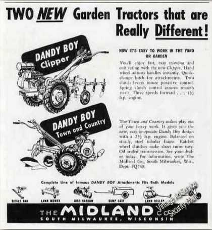Dandy Boy Garden Tractors S. Milwaukee Wi (1949)