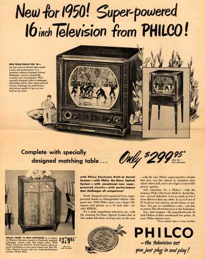 Philco's Television – New for 1950! Super-powered 16 inch Television from Philco (1950)