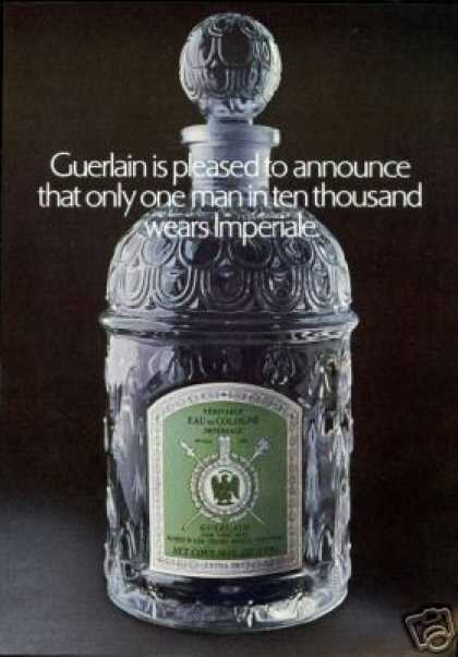Guerlain Mens Imperiale Cologne Bottle (1969)