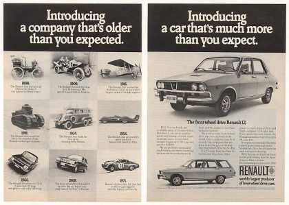 Renault 12 Company Older 1898 thru 1971 Cars 2P (1972)