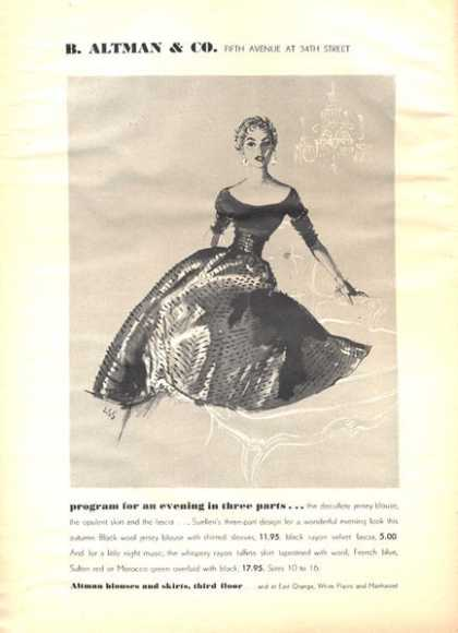 B. Altman Dress Detailed (1952)
