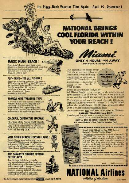 National Airline's Florida – National Brings Cool Florida Within Your Reach (1953)