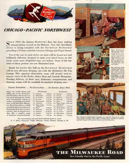 Milwaukee Road's Chicago and the Pacific Northwest – Chicago – Pacific Northwest (1947)
