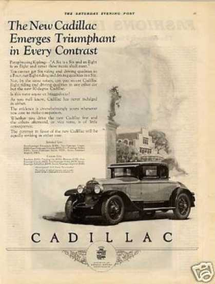 "Cadillac Car Ad ""The New Cadillac Emerges... (1926)"
