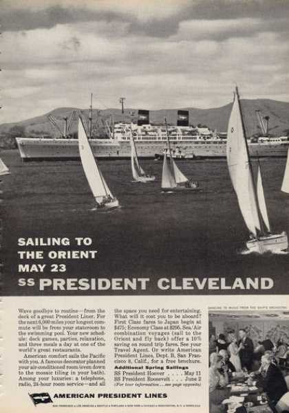 American President Lines Ad Uss Cleveland (1962)