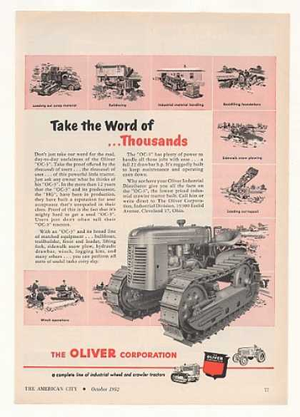 Oliver OC-3 Industrial Crawler Tractor (1952)