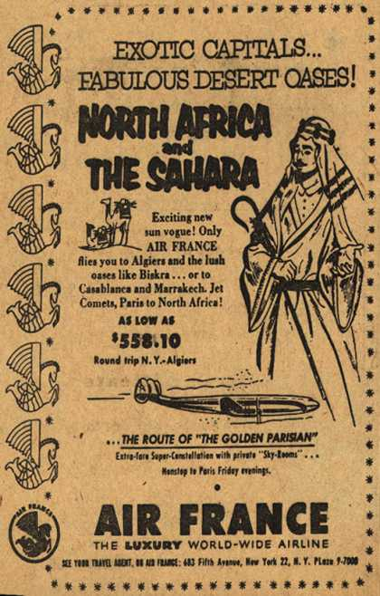 Air France's North Africa and the Sahara – Exotic Capitals... Fabulous Desert Oases! North Africa and The Sahara (1954)
