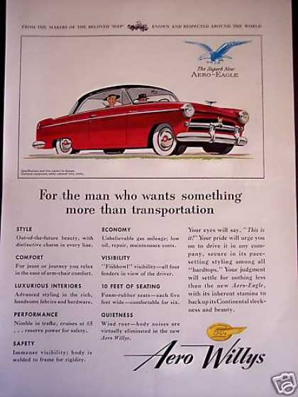 Aero Eagle Red 2dr Willys Car (1953)