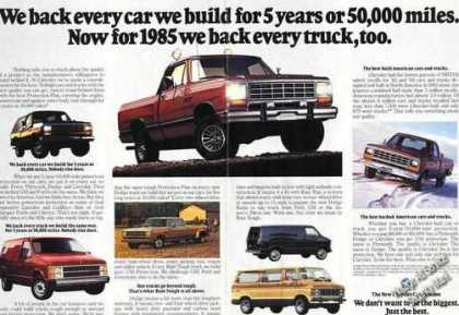 Dodge Trucks & Vans Truck Advertising (1985)