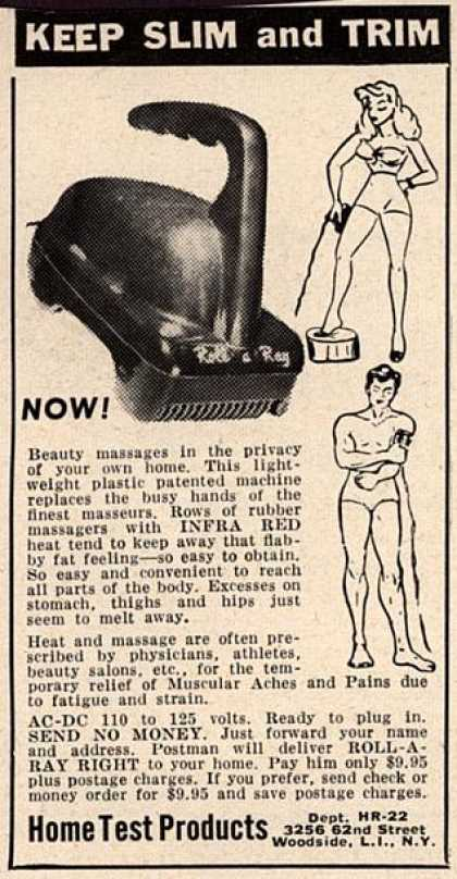 Home Test Product's Roll-A-Ray – Keep Slim and Trim (1950)