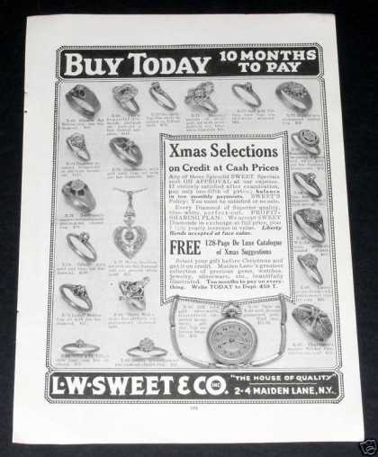 L.w. Sweet, Quality Jewelry, Ny (1919)