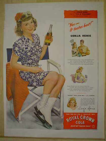 Royal Crown Cola RC Cola Sonja Henie Tastes best (1944)