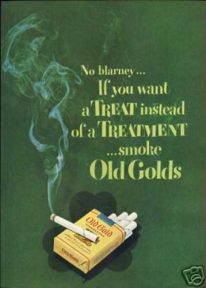 Irish Theme No Blarney Old Gold Cigarette Art (1949)