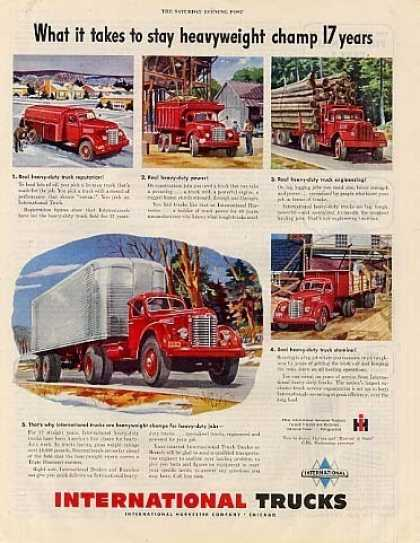 "International Trucks Ad ""What It Takes To Stay... (1949)"