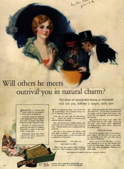 Palmolive Company's Palmolive Soap – Will others he meets outrival you in natural charm? (1926)