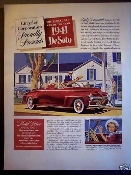 """New"" '41 Chrysler De Soto Car (1940)"