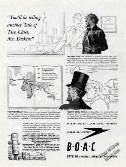 Boac British Airways Charles Dickens Theme (1947)