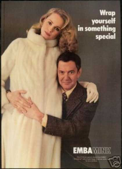 Tony Randall Emba Mink Fur Coat Photo Vintage (1979)
