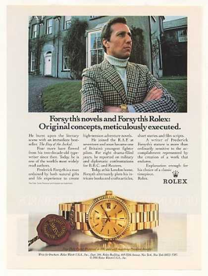 Frederick Forsyth Rolex Day-Date Watch Photo (1988)