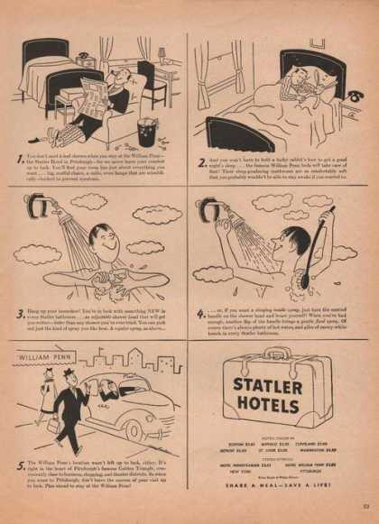 Statler Hotel Cartoon (1946)