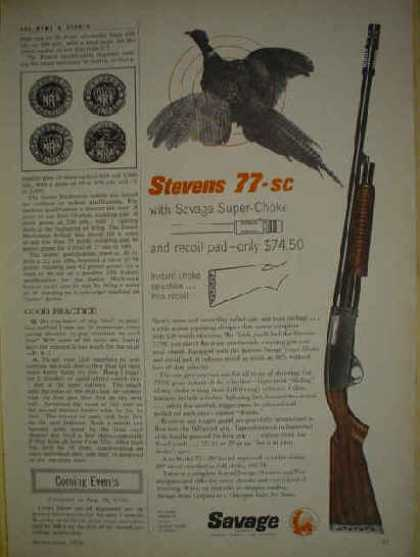 Savage Stevens 77 SC Super Choke with Recoil pad (1956)