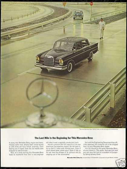 Mercedes Benz 300SE Car Photo Vintage (1963)