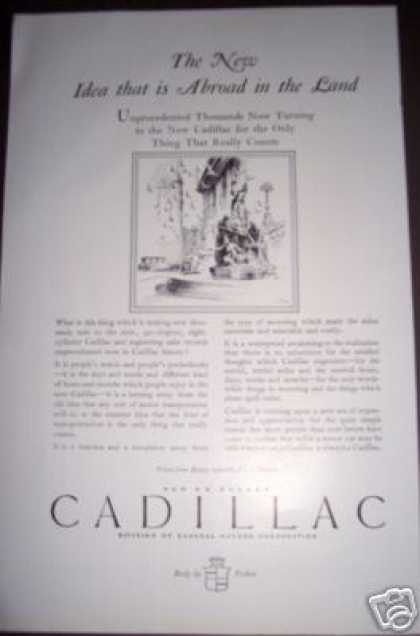 Original Cadillac Car Ad 90 Degree Gm 02 (1926)