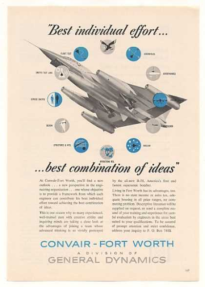 Convair Fort Worth B-58 Bomber Aircraft (1959)