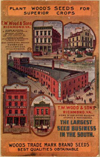 T. W. Wood & Son's Wood's Trade Mark Brand Seeds – Plant Wood's Seeds for Superior Crops (1912)