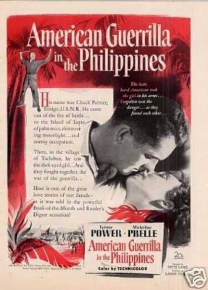"Movie Ad ""American Guerrilla In the Philippines"" (1950)"
