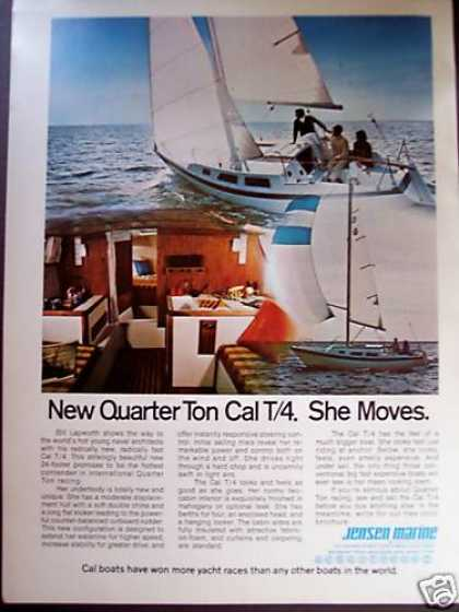 Jensen New 1/4 Ton Cal T/4 Sailboat Yacht Boat (1972)