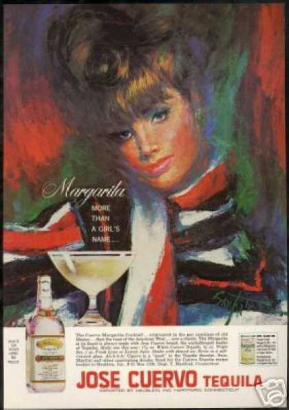 Pretty Woman Jose Cuervo Tequila Art (1967)