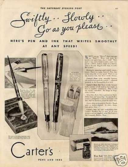 Carter's Fountain Pens (1930)