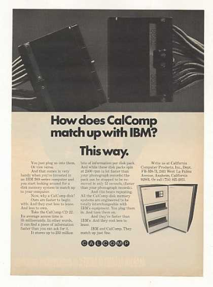 CalComp Computer Disk Plugs into IBM 360 (1971)