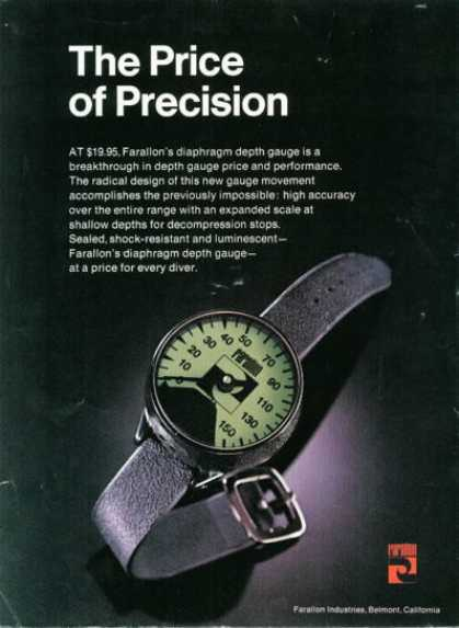 Farallon Diaphragm Depth Gauge (1976)