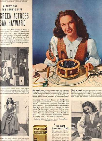 Sunsweet Prunes – Susan Hayward (1946)