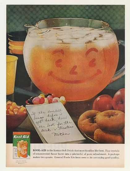 Orange Kool-Aid Smiling Pitcher Halloween (1959)