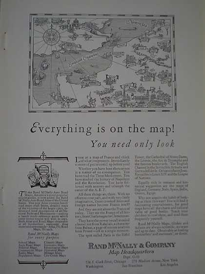 Rand McNally and Co Maps You need only look (1926)